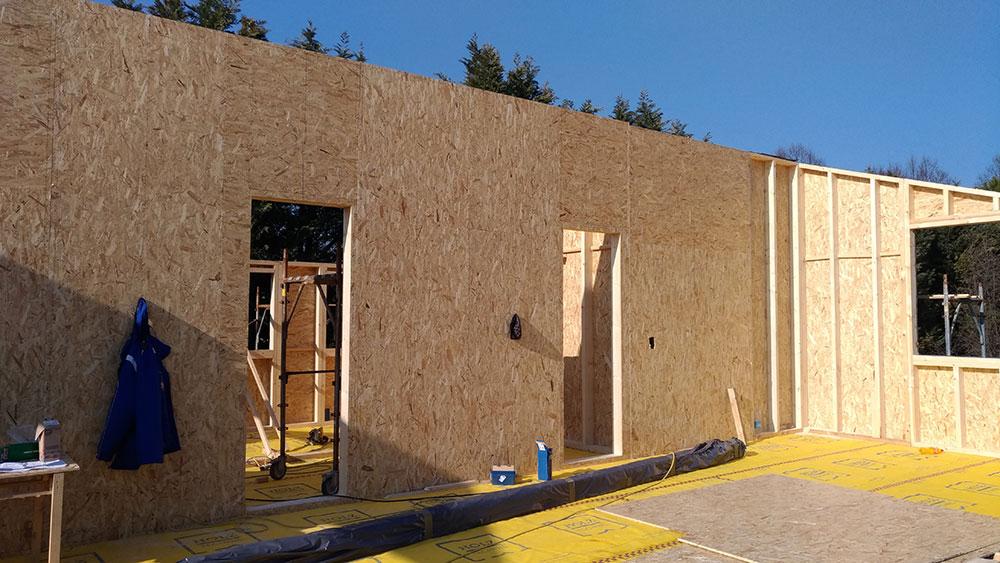 Cantiere casa in legno a Filetto