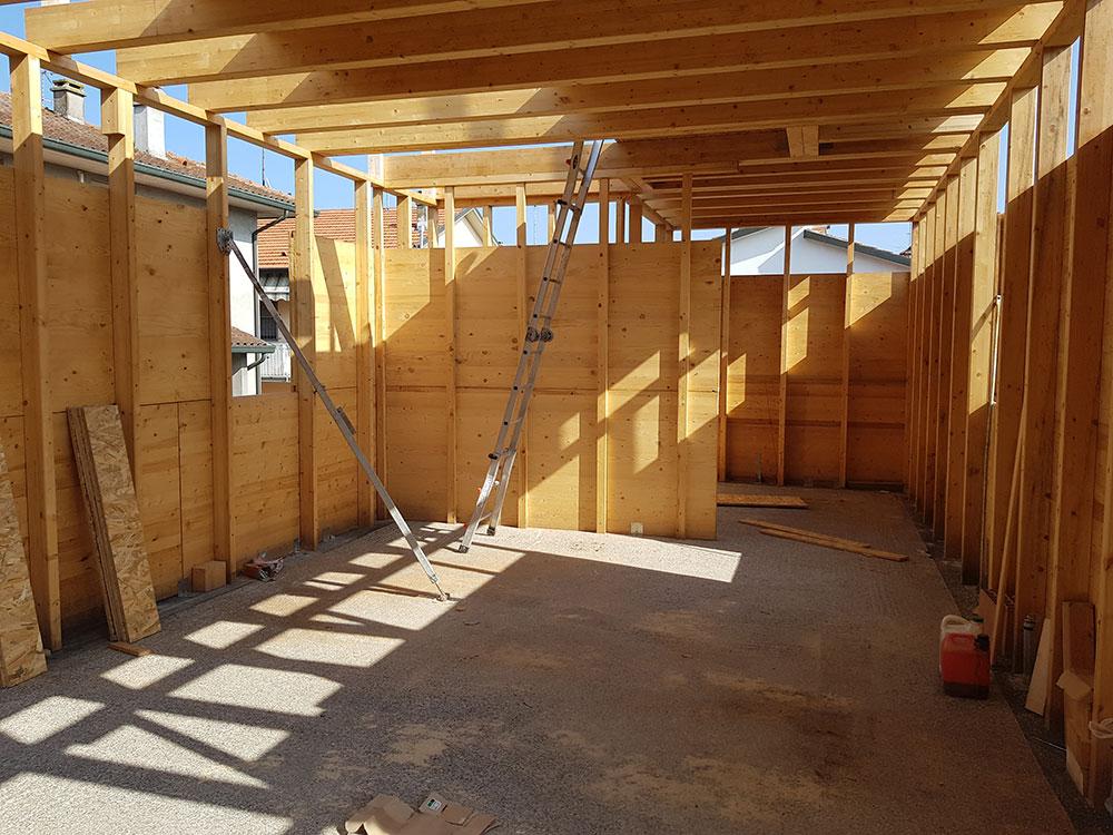 Casa in legno: cantiere